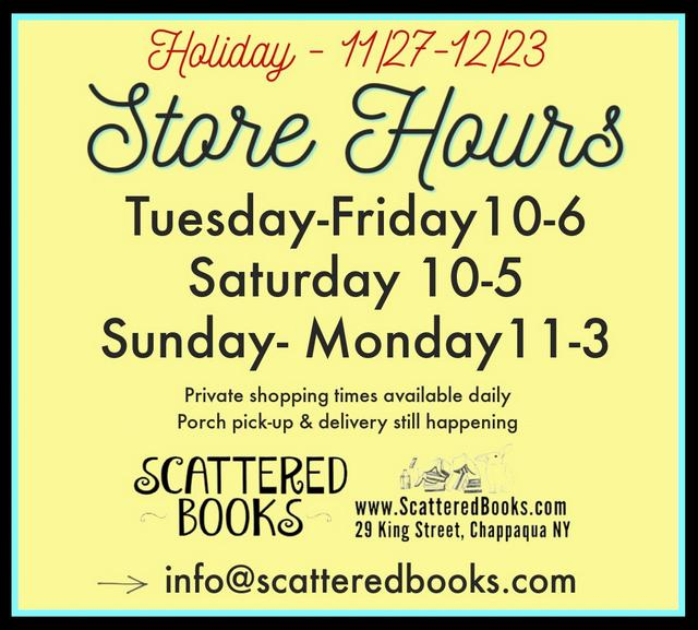 Scattered Books Store Hours - Holiday Hours