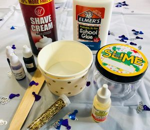 Ingredients for slime making
