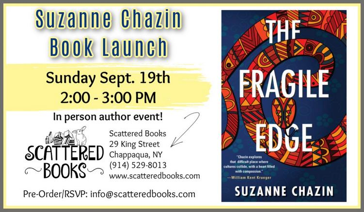Suzanne Chazin Fragile Edge Book Signing