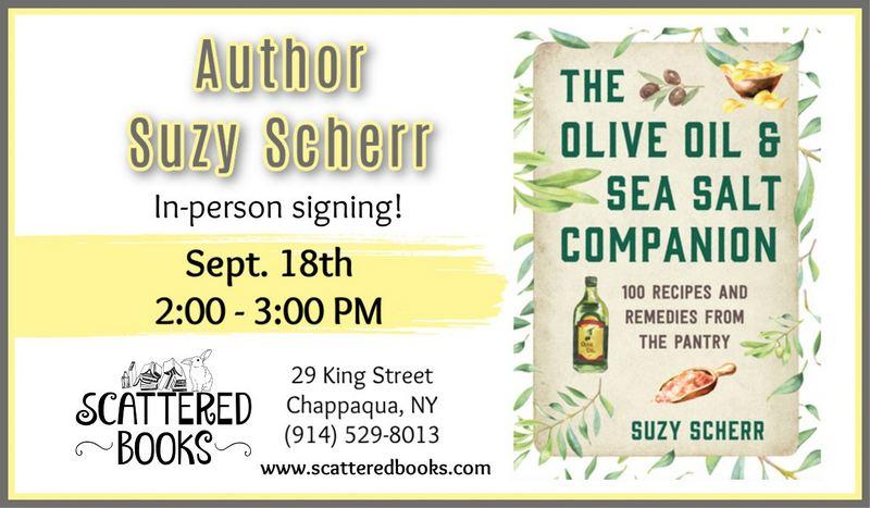 suzy scherr olive oil sea salt book signing